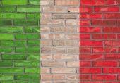 Italian brick wall