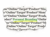 Advertising concept: Personal Branding on Paper background