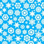 Seamless Pattern With White Snowflakes On A Blue Background.winter Background.vector