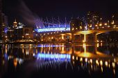 False Creek Vancouver Night Reflections