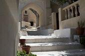 Stone Stairs In Kamari.