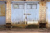 old garage gate