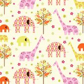 Animal In Autumn Pattern poster
