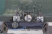 Drums Set, Powerfull Speakers, Amplifiers And Stage Equipment