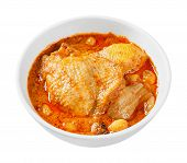 image of curry chicken  - Close up Muslim style chicken and potato curry or chicken mussaman curry  - JPG