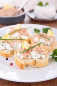 canapes with cheese and tuna