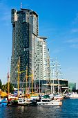 Sea Towers, Sailboats And Motorboats in Gdynia