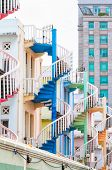 Colorful Staircases
