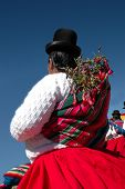 foto of chola  - A bolivian native woman called  - JPG