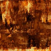 art abstract acrylic background in orange and brown colors