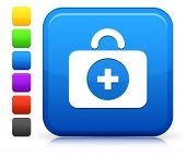 First Aid Icon on Square Internet Button Collection