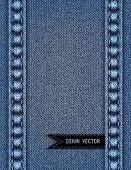 stock photo of stitches  - Illustration of abstract background from blue denim texture with stitches and ribbon - JPG