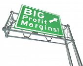 Big Profit Margins Freeway Road Sign Direction Exit