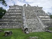 Step-pyramid In Chichen Itza