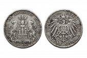 Silver Coin 5 Mark 1907