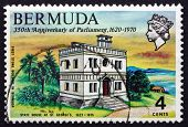Postage Stamp Bermuda 1970 State House, St. George's
