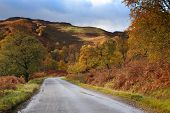 Road in Highlands of Scotland, Europe