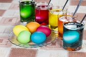 Coloring Eggs For Easter Holiday