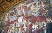 A wall painted by Raffaello inside Musei Vaticani in Rome