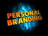 Personal Branding Concept on Digital Background.