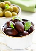 pic of kalamata olives  - marinated green and black olives  - JPG