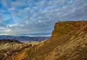 Photographer Overlooks Landscape in Death Valley