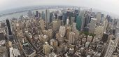Wide Aerial View of Manhatten