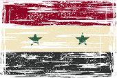 Syria grunge flag. Vector illustration