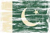 Pakistan grunge flag. Vector illustration