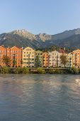 Inn River On Its Way Through Innsbruck, Austria.