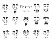 Facial Avatar Emotions Icons Set