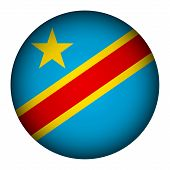 Democratic Republic Of The Congo Flag Button