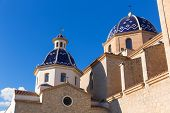 Altea old village Church typical Mediterranean at Alicante Spain