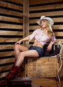 stock photo of cowgirls  - Young - JPG