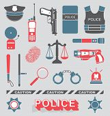Vector Set: Police Officer and Detective Icons
