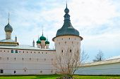 white walls of the ancient Rostov Kremlin