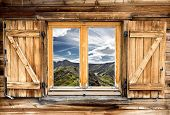 Mountain Hut Window Summer