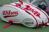 Wilson 100 Year Tour tennis bag at US Open 2014 at Billie Jean King National Tennis Center
