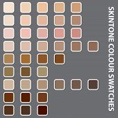 Illustration Of Colourful Swatches On Grey Background