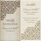 Baroque wedding invitation, patina
