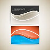 eps10 vector elegant wave elements business concept background