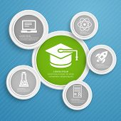 Infographic design template and icons vector illustration.