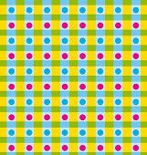 Vector napkin with stripes and color dots
