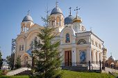 stock photo of exaltation  - Holy Cross Cathedral Man - JPG