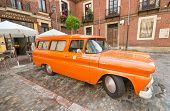 Orange 1960 Chevy Apache truck car