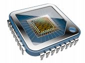 pic of microprocessor  - CPU Computer chip - JPG