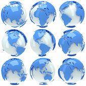 Earth Planet Globe Set
