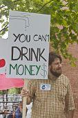 Moral Monday Fracking Sign