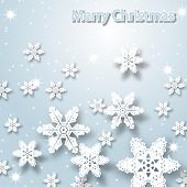 Christmas background. Snowflakes. Vector illustration.