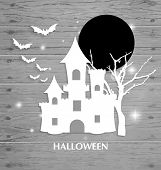 Halloween background. Vector illustration.